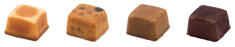 キューブ型ケーキ